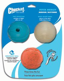 Chuckit Fetch Medley Variety Rubber Dog Balls | D for Dog