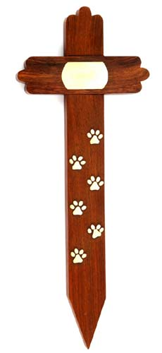 Wooden Cross Pet Grave Marker
