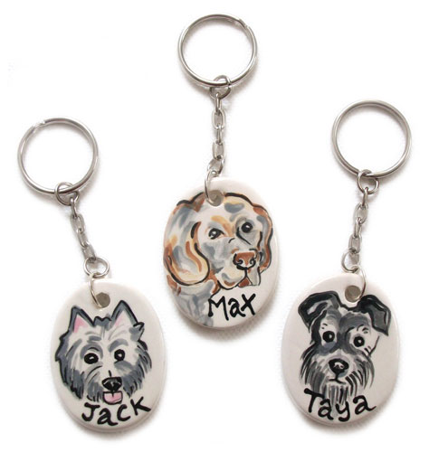 Personalised Dog Keyring Or Handbag Charm Uk Made D