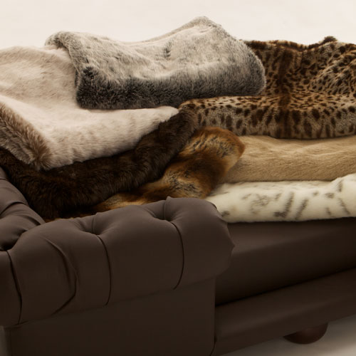 Gentil Luxury Faux Fur Throw