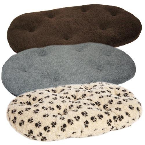 P L Oval Fleece Dog Cushion Pad