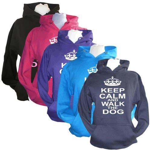 Unisex Slogan Hoodie - Keep Calm & Walk The Dog