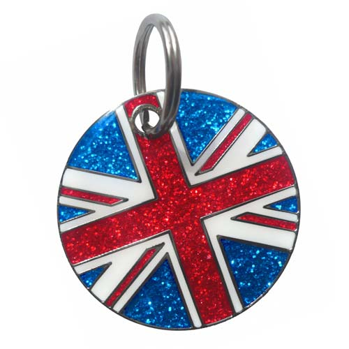 Union Jack Engraved Dog Id Tag By K9