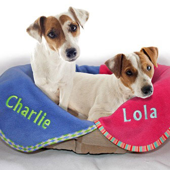 Personalised Dog Blankets Embroidered Name Uk
