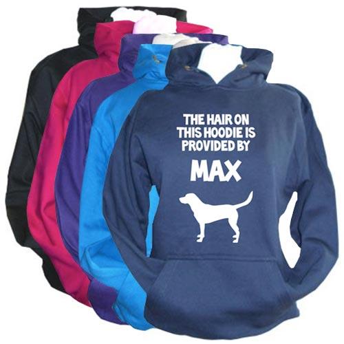 Unisex Personalised Hoodie Funny Dog Hair Slogan
