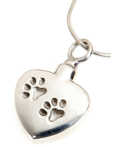 Pet urn necklace for pet ashes indented paw prints zoom aloadofball Choice Image
