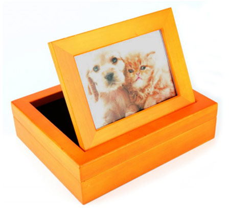 Stafford Luxury Wooden Memory Box With Photo Frame