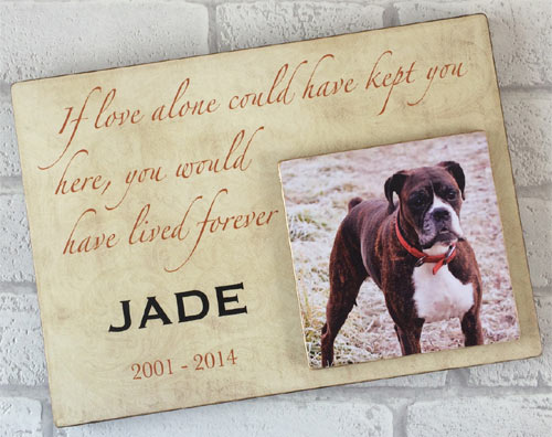 Decorative Amp Memorial Wooden Text Amp Photo Dog Plaque