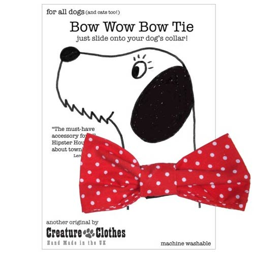 f245032c4177 Red Dog Bow Tie with White Polka Dots | UK Handmade
