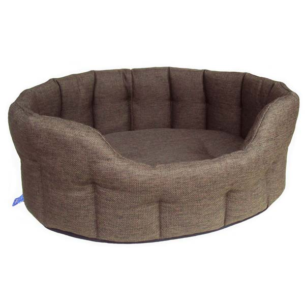 P Amp L Oval Softee Heavy Duty Dog Bed High Sided Uk D