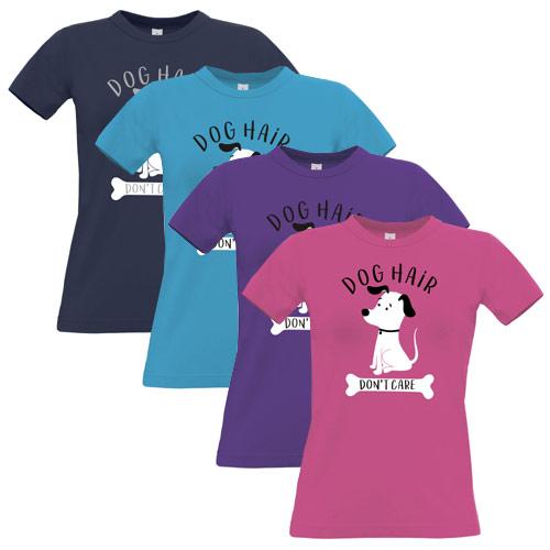af82a1f94 Women's Slogan T-Shirt | Dog Hair, Don't Care | UK