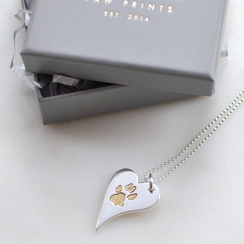 650b19acd Your Dog's Paw Print Sterling Silver Charm Necklace