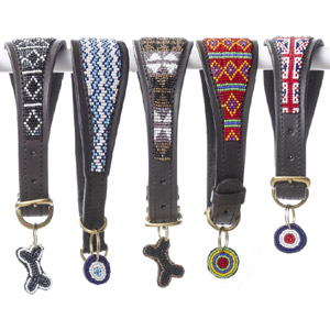 Beaded Leather Lurcher Collars