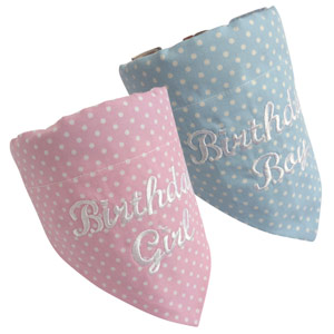 Luxury Dog Birthday Bandana