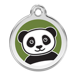 Medium Dog ID Tag - Panda