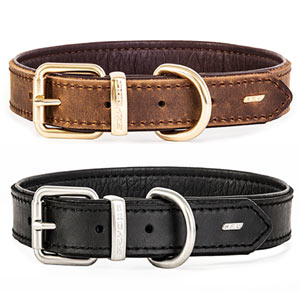 Oxford Natural Leather Dog Collar