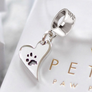 Your Dog's Paw Print Charm on Bead