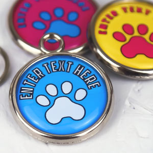 Pawesome Pet Tag - Paw & Text