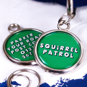 Printed Pet Tag - Squirrel Patrol