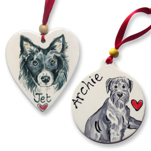 Personalised Ceramic Dog Decoration