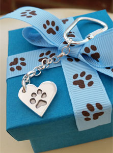 Your Dog's Paw Print Keyring