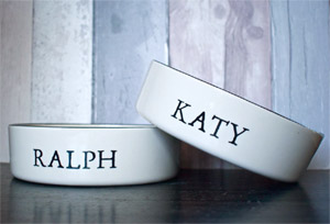 Personalised Dog Bowl - Stamp