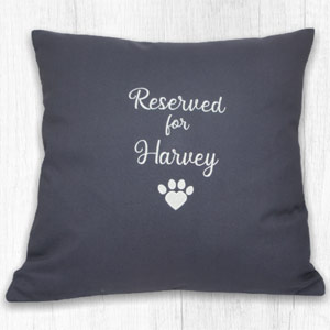 Personalised Dog Lover Cushion - Reserved For