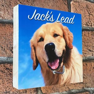 Personalised Photo Dog Lead Hook