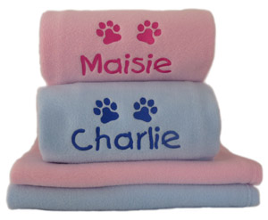 Personalised Puppy Blanket