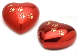 Pet Keepsake Urn Hertford Red Heart
