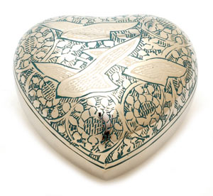 Keepsake Urn Althorp Blue Heart