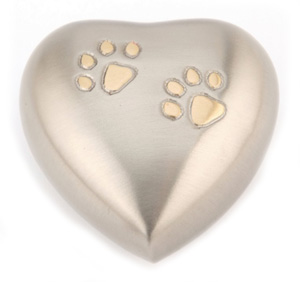 Pet Keepsake Urn Chertsey Pewter Heart