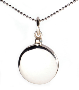 Cremation Jewellery Necklace Mayfair Round