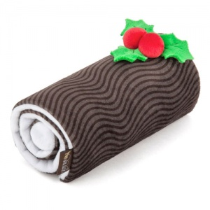 Holiday Yule Log Dog Toy