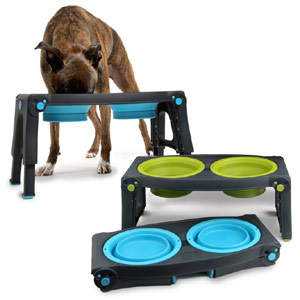 Popware Adjustable Elevated Dog Feeder