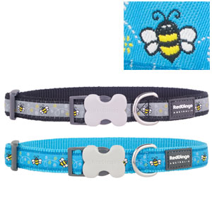 Red Dingo Dog Collar Bumble Bee