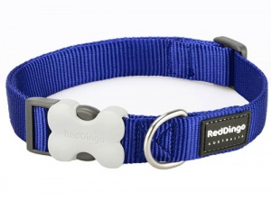 Red Dingo Dark Blue Dog Collar