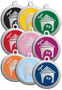Medium Dog ID Tag - Dog House