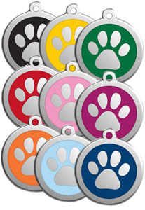 Medium Dog ID Tag - Paw Print