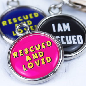 Rescue Dog Pet Tags