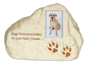 Rock Pet Urn Dog