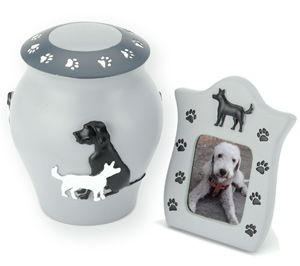 Shildon Dog Ashes Urn & Frame