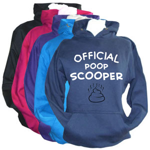 Unisex Slogan Hoodie - Official Poop Scooper