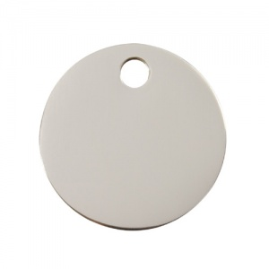 Plain Stainless Steel Dog Tag - Small Circle