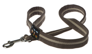 Faux Suede Café Noir Dog Lead