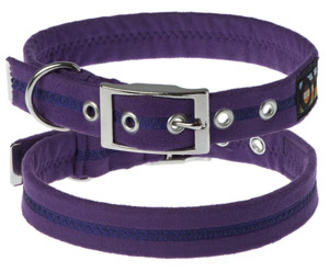 Faux Suede Liberty Purple Dog Collar