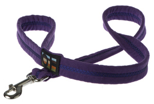 Faux Suede Liberty Purple Dog Lead