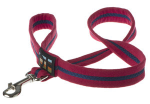 Faux Suede Bold Red Dog Lead