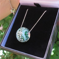 Eternity Ashes in Glass Round Necklace