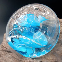 Ashes Glass Pawprint Pet Memorial